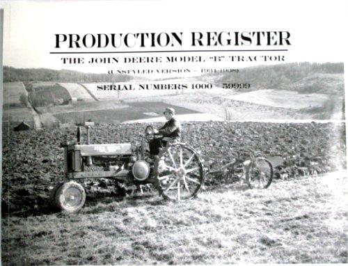 9781887446051: The John Deere Model B Tractor Production Register