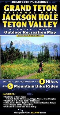 9781887460064: Grand Teton National Park · Jackson Hole · Teton Valley · Wyoming · Idaho · Outdoor Recreation Map