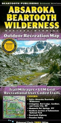 Absaroka Beartooth Wilderness: Montana, Wyoming: Outdoor Recreation Map: Beartooth Mapping