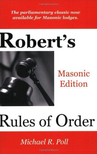 9781887560078: Robert's Rules of Order - Masonic Edition