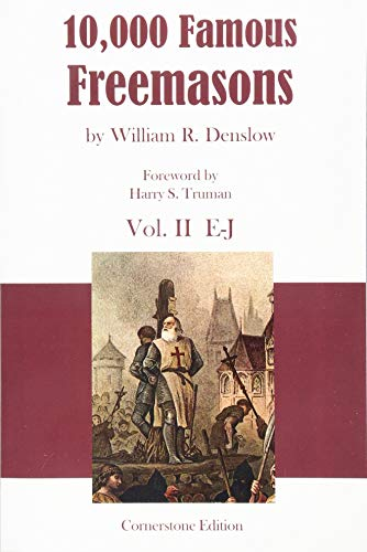 9781887560795: 10,000 Famous Freemasons: Vol. II: Volume 2