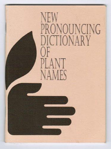 9781887632508: New Pronouncing Dictionary of Plant Names (Item No. 241)