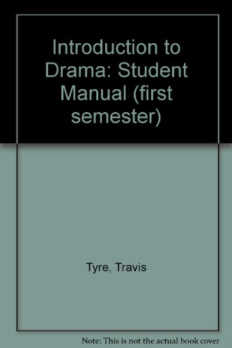 9781887710084: Introduction to Drama: Student Manual (first semester)