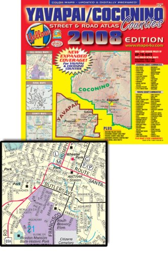 9781887749862: Yavapai/Coconino Counties Street and Road Atlas