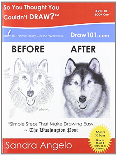So You Thought You Couldn't Draw?: Draw 101 Home Study Course Workbook: Level 101 (30 Minute ...
