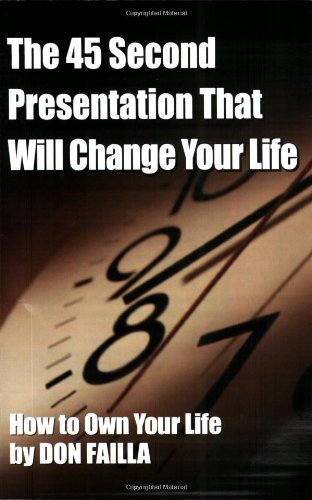 9781887938952: The 45 Second Presentation That Will Change Your Life
