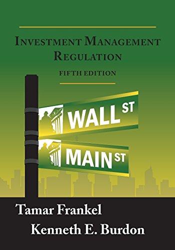 9781888215601: Investment Management Regulation, Fifth Edition