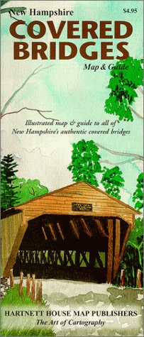 9781888216127: New Hampshire Covered Bridges Map & Guide