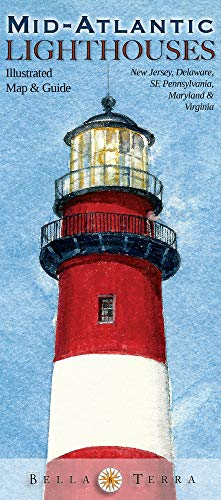 9781888216349: Mid-Atlantic Lighthouses: Illustrated Map & Guide - Virginia, Maryland, Delaware, New Jersey Lighthouses