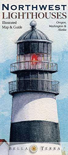9781888216363: Northwest Lighthouses Illustrated Map & Guide: Oregon, Washington & Alaska