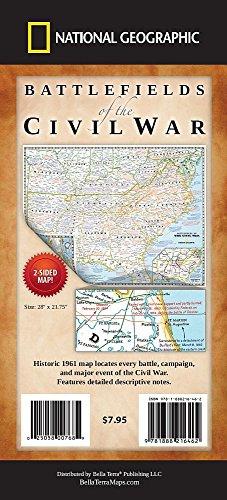 9781888216462: Battlefields of the Civil War Map