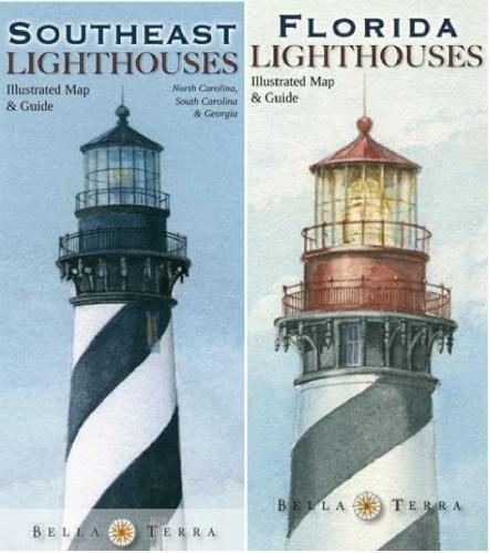 9781888216608: Southeastern Lighthouses Map Pack - North Carolina, South Carolina, Georgia & Florida