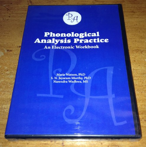 Phonological Analysis Practice: An Electronic Workbook: Watson, Marie