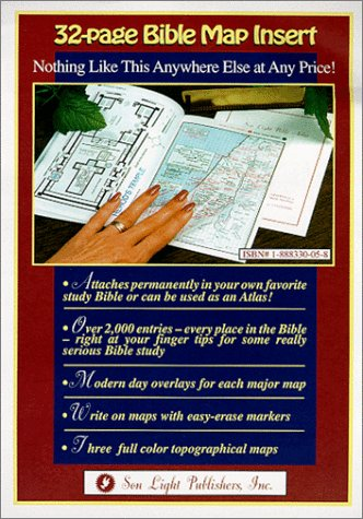 Bible Map Insert (Find Every Place Mentioned: Summers, Wayne