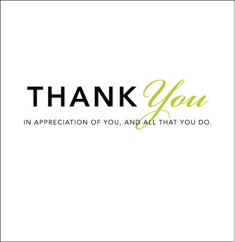 9781888387377: Thank You: In Appreciation of You, and All That You Do (Gift of Inspiration)