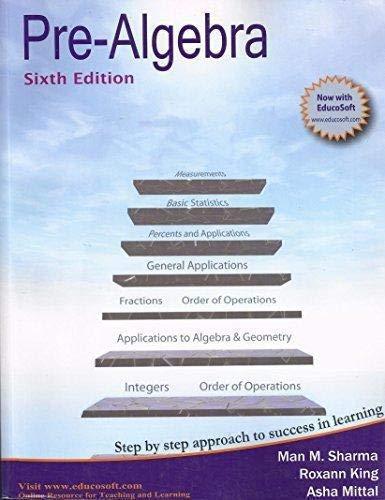 9781888469912: Pre-Algebra, Sixth Edition