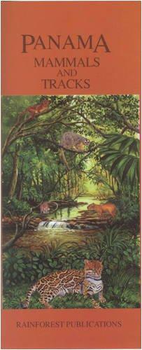 9781888538458: Panama Mammals & Tracks Wildlife Guide (Laminated Foldout Pocket Field Guide) (English and Spanish Edition)
