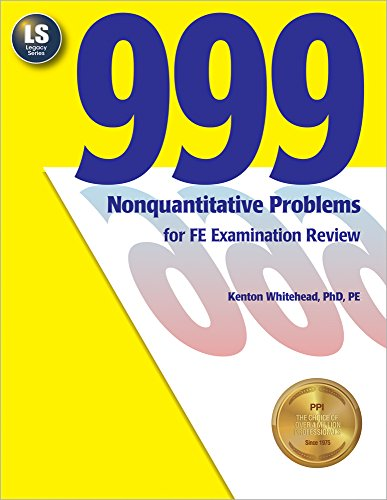 999 Nonquantitative Problems for FE Examination Review: Whitehead, Kenton