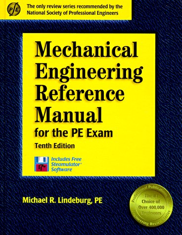 9781888577136: Mechanical Engineering Reference Manual for the PE Exam: 10th Edition (Engineering Reference Manual Series)
