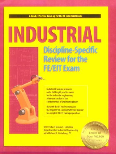 9781888577228: Industrial Discipline-Specific Review for the FE/EIT Exam