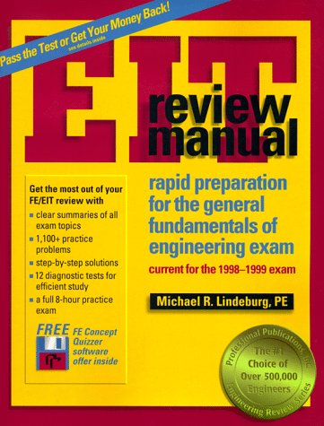 9781888577266: Eit Review Manual: Rapid Preparation for the General Fundamentals of Engineering Exam : Current for the 1998-1999 Exam