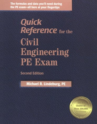 9781888577471: Quick Reference for the Civil Engineering Pe Exam