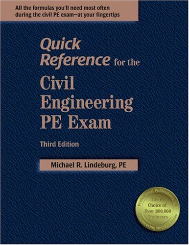9781888577761: Quick Reference for the Civil Engineering PE Exam