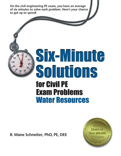 Six-Minute Solutions for Civil PE Exam Problems : Water Resources