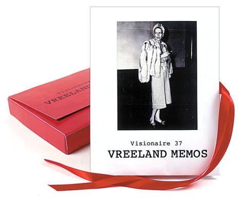 9781888645354: Visionaire 37: Vreeland Memos