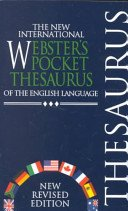 9781888777499: The new international Webster's pocket thesaurus of the English language