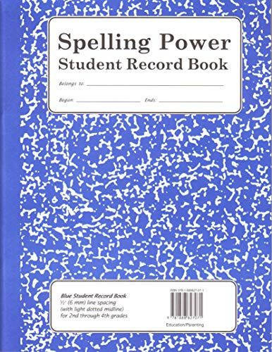 Spelling Power Student Record Book (Blue): Beverly L. Adams-Gordon