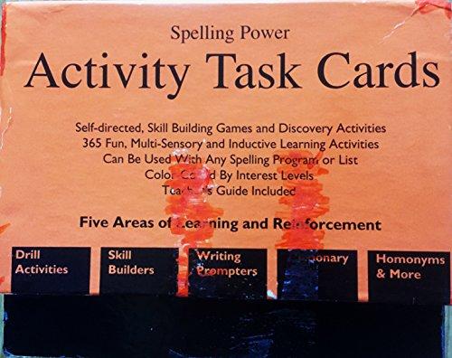 Spelling Power Activity Task Cards: Beverly Adams-Gordon