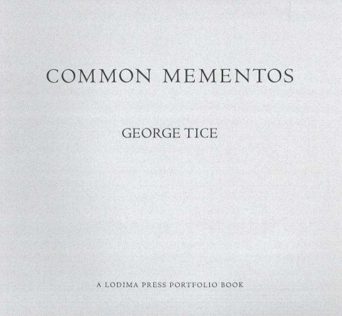 9781888899221: Common Mementos (Lodima Press Portfolio Books, Vol. 3)