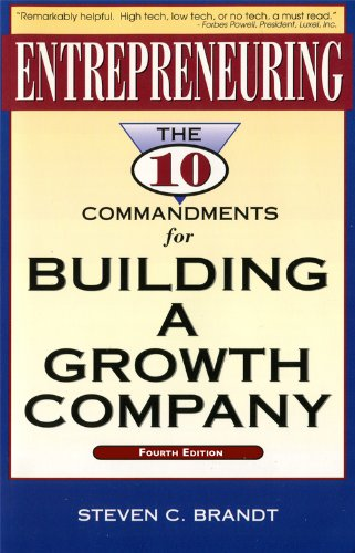 9781888925005: Entrepreneuring: The Ten Commandments for Building a Growth Company