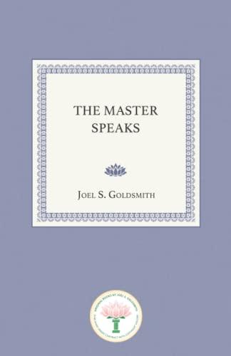 9781889051420: The Master Speaks