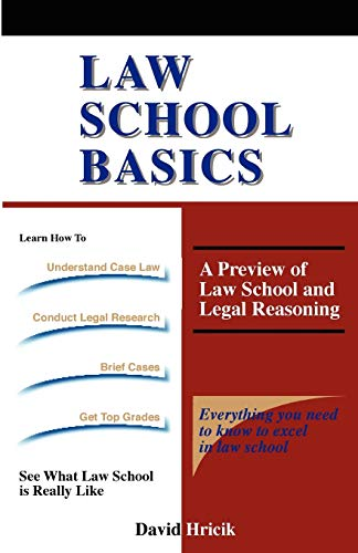 Law School Basics : A Preview of: David Hricik
