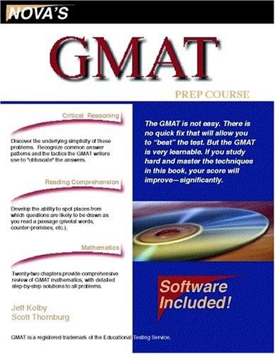 9781889057279: GMAT Prep Course (Nova's GMAT Prep Course)