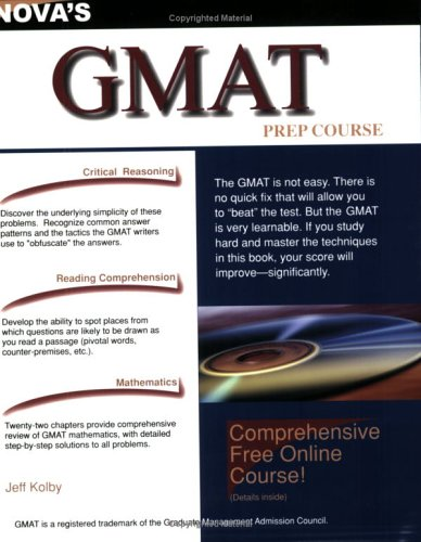 9781889057347: GMAT Prep Course