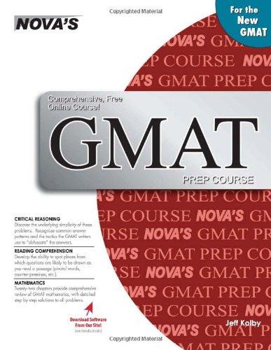 9781889057408: Nova's GMAT Prep Course (with Online Course)