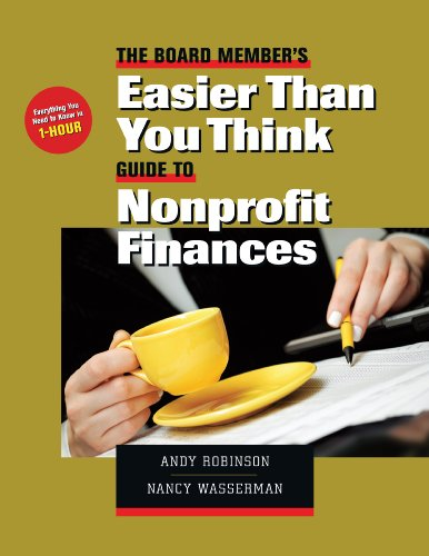 9781889102436: The Board Member's Easier Than You Think Guide to Nonprofit Finances