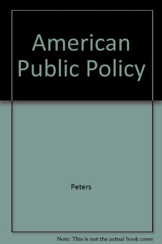 9781889119632: American Public Policy