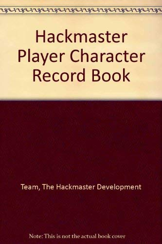 9781889182353: Hackmaster Player Character Record Book