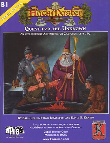 Quest for the Unknown (Hackmaster Fantasy Roleplaying Adventure): Jelke, Brian; Johansson, Steve; ...