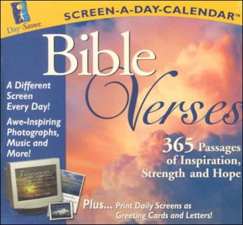 9781889220314: Bible Verses: Screen-A-Day-Calendar (60-Second Smart)