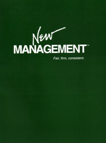 9781889236032: New Management: Fair, Firm, Consistent: A Systematic Approach to Student Management, Motivation, and