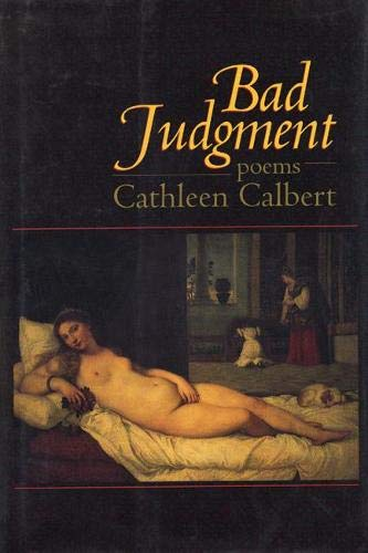 9781889330235: Bad Judgment: Poems
