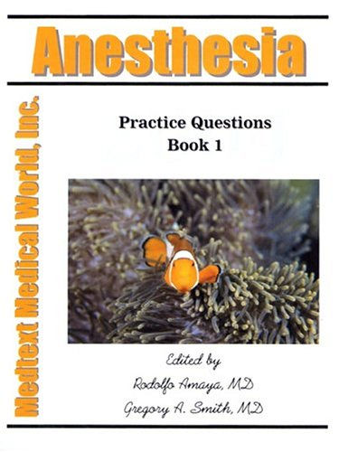 9781889344652: Anesthesia: Practice Questions, Book 1