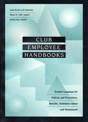 9781889524054: Club Employee Handbooks