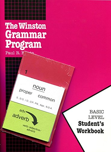 9781889673011: The Winston Grammar Program: Basic Level Student's Workbook-Package (New Cards)
