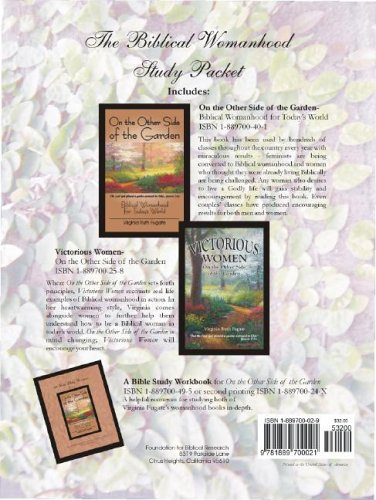 9781889700021: The Biblical Womanhood Study Packet (a 3-book collection of On the Other Side of the Garden, On the Other Side of the Garden Workbook, and Victorious Women)
